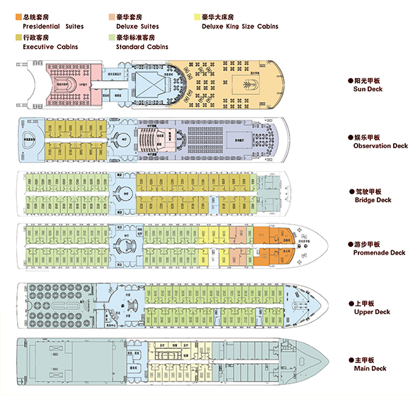 长江黄金1号甲板图片
